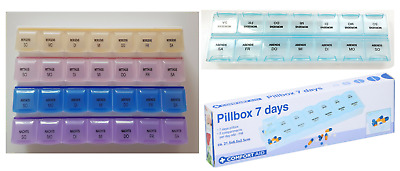 7 TAGE PILLENDOSE MEDIKAMENTENBOX TABLETTENBOX PILLENBOX TABLETTENDOSE TABLE Neu