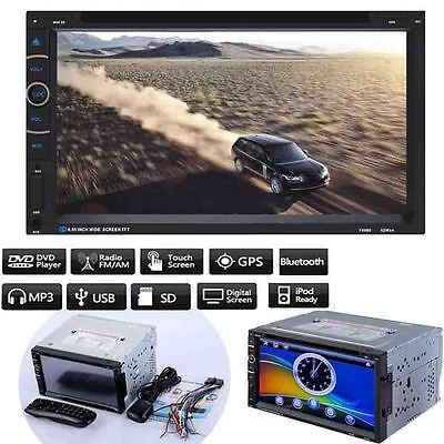 "7"" Double 2 DIN Android Stereo Car CD DVD Player GPS Navi FM Touch Radio iPod"