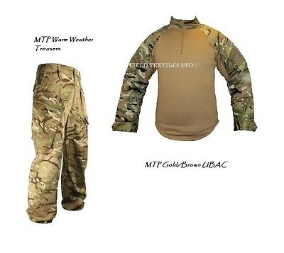 2 Pack - MTP Camo TROUSERS + MTP Gold/Brown UBAC Shirt - British Army - Grade 1