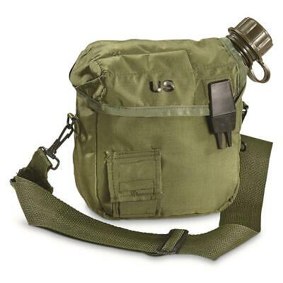 U.S MILITARY CANTEEN 2 QUART with OD COVER CARRIER and STRAP U.S MILITARY