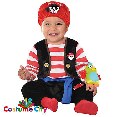 Babys Toddlers Baby Buccaneer Pirate Fancy Dress Party Halloween Costume