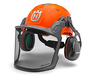 Husqvarna Forest Technical chainsaw safety ground helmet with ears & visor