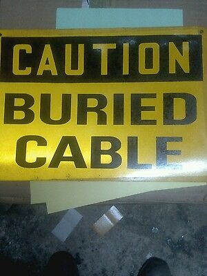 NEW T&B   BP-0191 SIGNS CAUTION BURIED CABLE - * LOT of 5 *