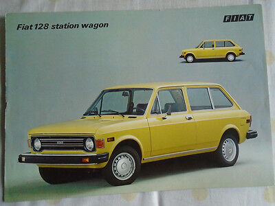Fiat 128 Station Wagon brochure c1976