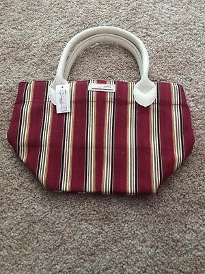 Longaberger Homestead Holiday Stripes Tote Bag New With Tags