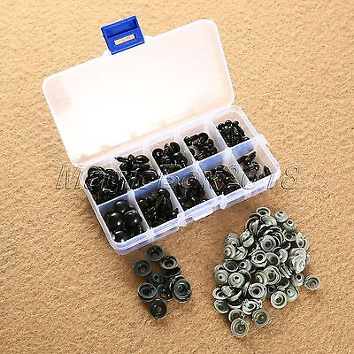 100pcs 6mm 8mm 9mm 10mm 12mm Mix Black Safety Eyes For Teddy Bear Toy Doll Craft
