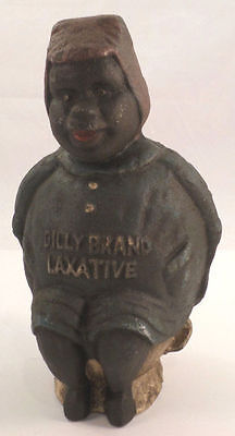 Cast Iron Big Mammy Bank Dilly Laxative Black Americana Bank Figurine