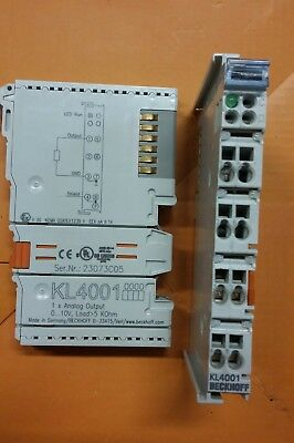 Beckhoff Modules KL4001 or KL4002 or KL4004 or KL5101 or BK3120,all ready to use