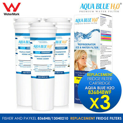 3x Fisher Paykel Replacement  Water Filter Cartridge 836848wf for 8386848
