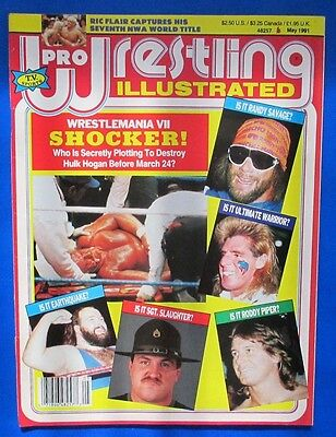 1991 PRO WRESTLING ILL Magazine May VG+ Earthquake Sgt Slaughter Roddy Piper