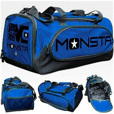 NEW Monsta Clothing HEAVY DUTY BLUE Sport Duffle Workout Gym Camping Outdoor Bag