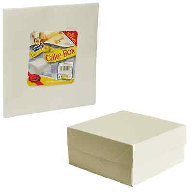 "White Cake Box Boxes & Lid - 8 9 10 11 12 14 16"" Inch Wedding Party Birthday"