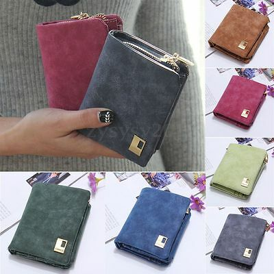New Fashion Lady Women Leather Purse Clutch Wallet Short Small Bag Card Holder