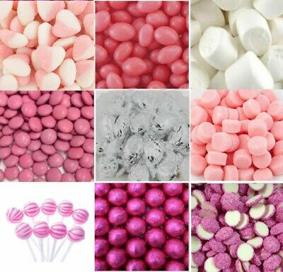 4.5kg DIY Pink White Lollies Choc Candy Bar Wedding Party + Accesories