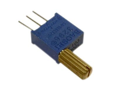 1K Ohm Multi-turn Trimmer potentiometer 3296 w/ handle - Pack of 2