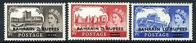 BAHRAIN-1955-60 Castle High Values Set  Sg 94-96 LIGHTLY  MOUNTED MINT V8765