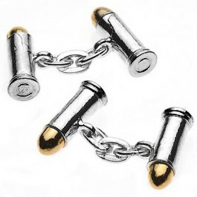 Bullet Cufflinks Silver Plated And Gift Boxed By Christopher Simpson