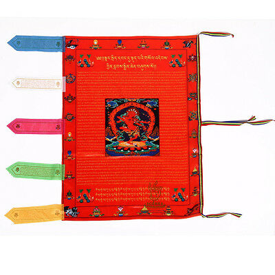 Tibet Buddhist Silk Wind Horse Prayer Flag - Buddhist  KURUKULLE Buddha Goddess