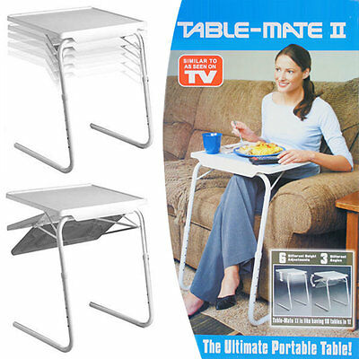 Small Folding Table TV Dinner Home Outdoor Travel Tray Desk Laptop Adjustable