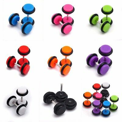 1 Fake Earplug Earring Retainer Taper Cheater Ear plug piercing Stretcher Tunnel