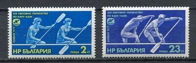 33603) BULGARIA 1977 MNH** Canoe World Hamp. 2v