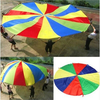 FD3448 Kids Play Jumpsack Rainbow Parachute Outdoor Game Exercise Sport Toy 2M♫