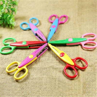 FD3454 Decor Craft Border Scissors Scallop Wavy Fancy Pinking Paper Shears 1pc♫