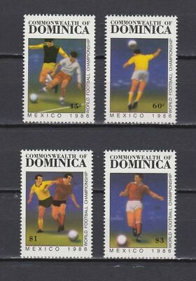 s5998) DOMINICA 1986 MNH** World Cup Football'86 - 4v.