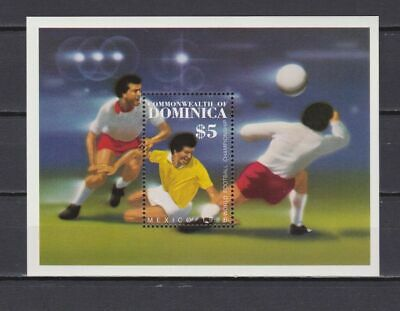 s5999) DOMINICA 1986 MNH** World Cup Football'86 - S/S