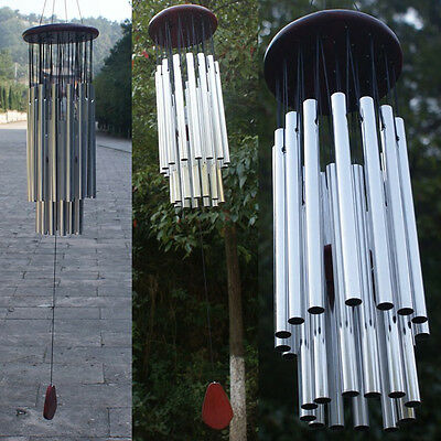 Outdoor Garden Yard Home Living Wind Chimes 27 Tubes 3 Bells Copper Windchimes