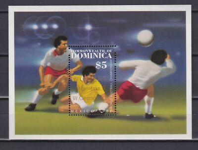 s6002) DOMINICA 1986 MNH** World Cup Football'86 - 2v.