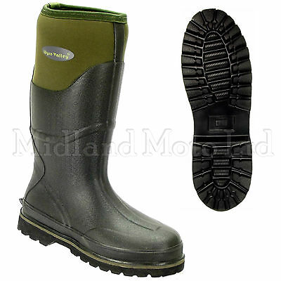 Wyre Valley Trent Muck Boots Neoprene Lined Wellington Farm / Stable Yard