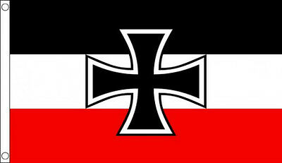 GERMAN NAVY JACK 3' x 2' Germany Iron Cross Flag WW1 World War 1 Ensign
