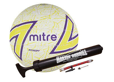 Mitre Intercept 2016 Netball With Free Hand Pump