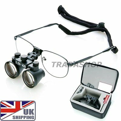 UK 2.5x Magnification Galilean Dental Medical Dentistry Frame Surgical Loupes
