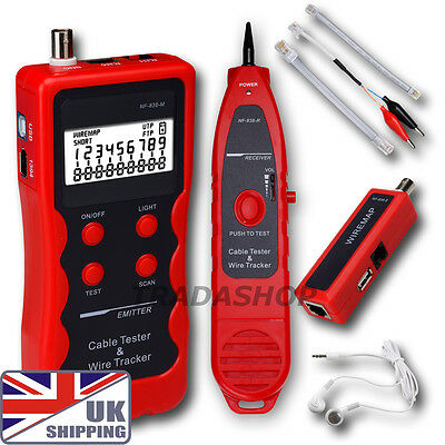 UK Network LAN Phone Tester wire Tracker coaxial Cable USB RJ4511 BNC IEEE 1394
