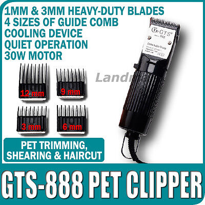 Pet Clipper GTS888 trimmer Grooming 30W 220V cani capelli animali 2 Lame