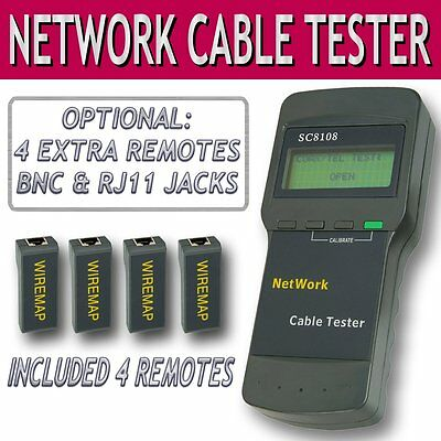 Network Tester SC8108 Cavo LAN Telefono Rete Cat5 RJ45 Mapper 4 Far-End Jacks