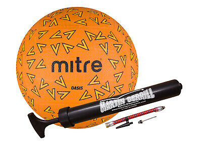 Mitre Oasis 2016 Netball with Free Hand Pump