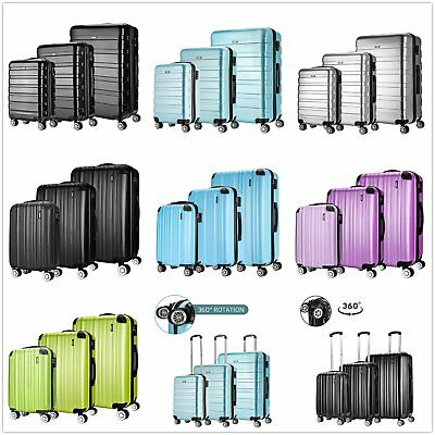 Hard Shell 4 Wheels Spinner Abs Travel Trolley Luggage Cabin Size Suitcase Bag