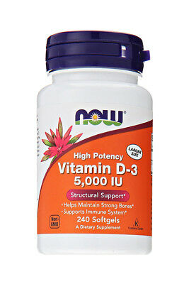 Now Foods - High Potency Vitamin D-3 5000 IU 240 Softgels