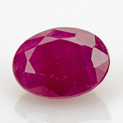 1.65 ct Ruby Oval cut 7.9x5.9mm I1 Natural loose red gemstone No Glass Filling