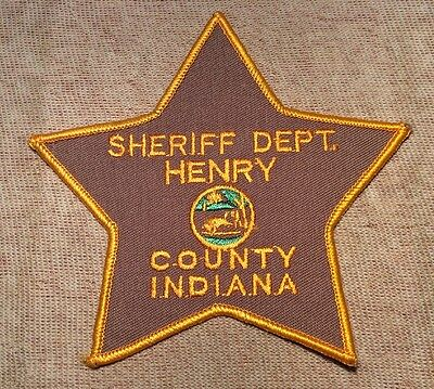 IN Henry County Indiana Sheriff Patch