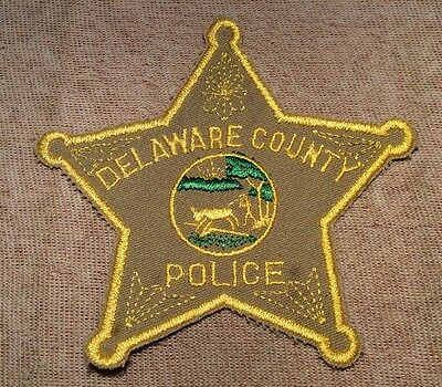 IN Delaware County Indiana Police Patch