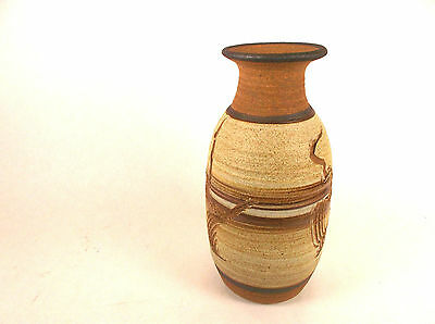 Decorative Western/Midwestern Style Stoneware Vase [Signed by Artist] NEW
