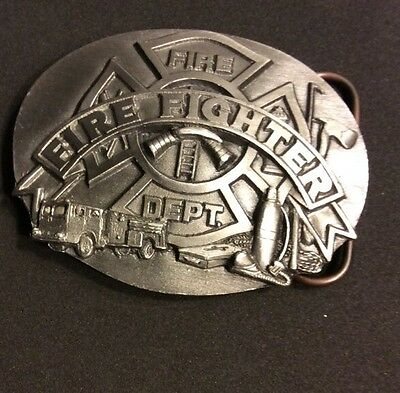 Vintage 1991 R92 NOT PAINTED!  Siskiyou Fire Fighter Belt Buckle