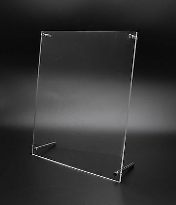 Plexiglass Lucite Clear Acrylic Sign Holder Standoff Hardware Picture Frame