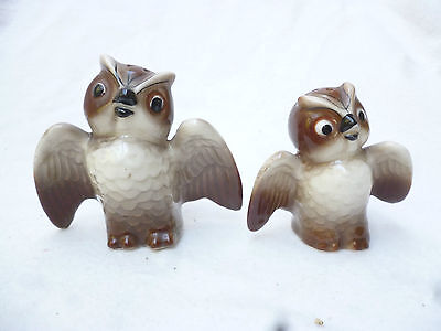VINTAGE 1960s CHINA OWLS - SALT & PEPPER SHAKERS - very good condition
