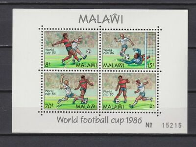 s6060) MALAWI 1986 MNH** WC Football'86- CM Calcio S/S