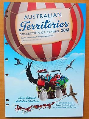 2013 Australian Territories Stamp Year  Collection - 15 Stamps & 4 Mini Sheets